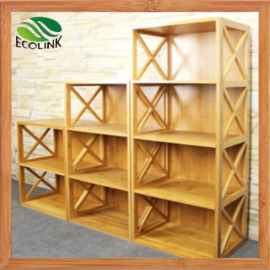 Customized Design Modern Natural Bamboo Bookshelf for Kids (EB-91356) pictures & photos