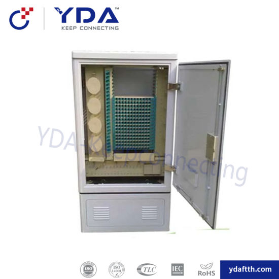 Fiber Optic Chinese Manufacturer High Quality 288 Core SMC Cross Connection Outdoor Cabinet pictures & photos