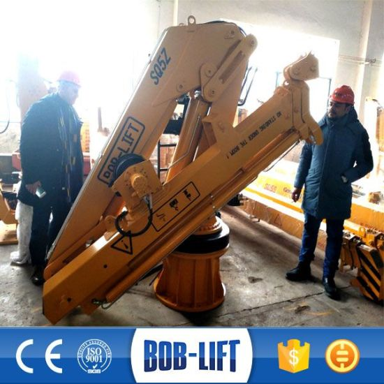 Ce Certificate Knuckle Boom Telescopic Hydraulic Ship Marine Deck Crane pictures & photos