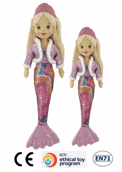 Mermaid Beautiful Dolls High Quality Plush Mermaid Dolls for Girls/Parks pictures & photos