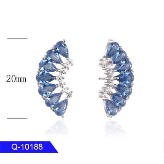 New Model 925 Sterling Silver or Brass Fine Jewelry Colored Stones Earrings for Women pictures & photos