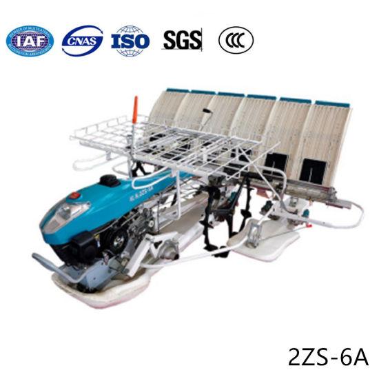 6 Rows Non-Slip Rubber Wheel Walking Type Manual Rice Seedling Transplanter pictures & photos