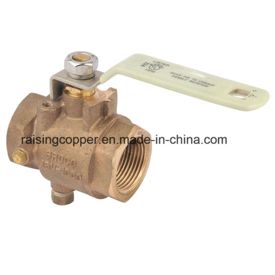 Full Port Bronze Ball Valve with Side Drain pictures & photos