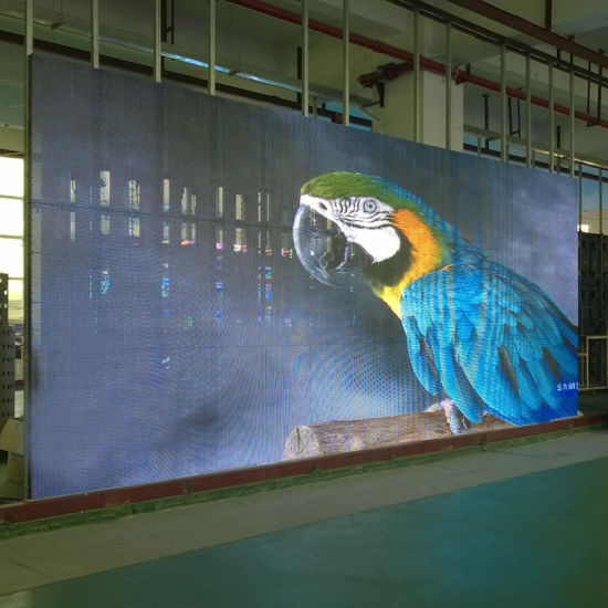 P10mm Full Color Indoor LED Mesh Display pictures & photos