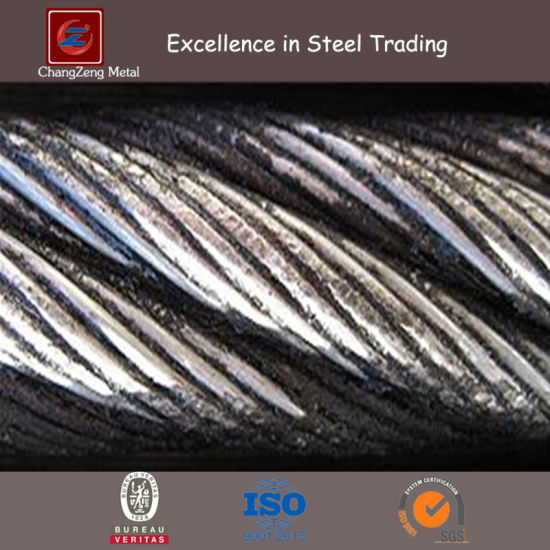 Right-Hand Lang′s Lay (RHLL) Wire Rope (Close-Up) pictures & photos