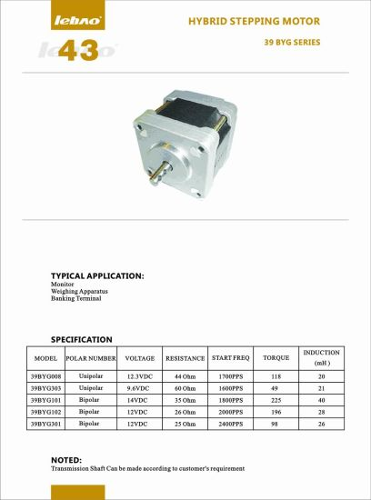 Three-Phase Air Conditioner Excavator Parts NEMA 24 Hybrid Stepping Motor pictures & photos