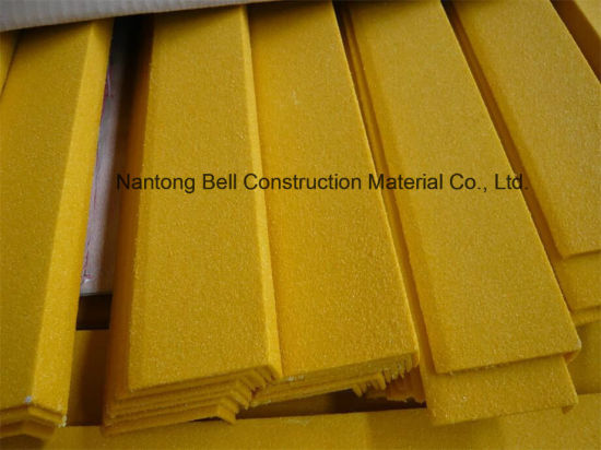 FRP/GRP Stair Tread Cover, Fiberglass Anti-Slip Stair Nosing. pictures & photos