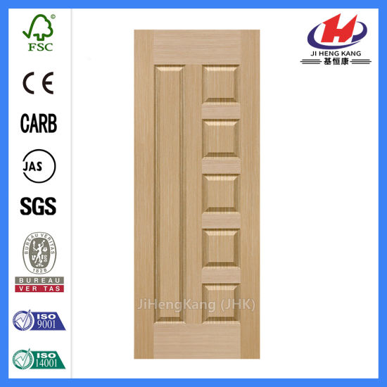 Customized Teak Veneer HDF Laminate Molded Door Skin pictures & photos