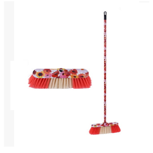 Beautiful Design Long Handle Printed Plastic Broom pictures & photos