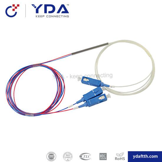 Manufacturer 1X2, 1X4, 1X8, 1X16, 1X32, 1X64 Sc/APC Sc/Upc Fbt Fiber Optic Splitter pictures & photos