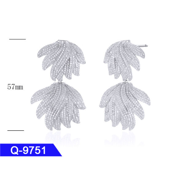 New Design Fashion Jewellery 925 Sterling Silver or Brass CZ Earrings for Children pictures & photos