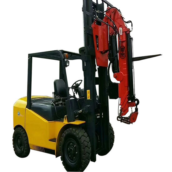 Knuckle Boom Hydraulic Forklift Fly Jib Crane for Sale pictures & photos