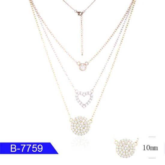 New Arrival Cheap Fashion Jewelry 925 Sterling Silver Cubic Zirconia Necklace for Sale pictures & photos