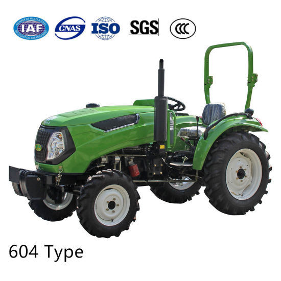 Agricultural Garden Lawn 60 HP Small Four Wheel Diesel Farming Gearbox Tractor pictures & photos