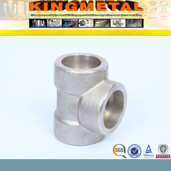 B16.11 A105 Socket Welded Forged Tee pictures & photos