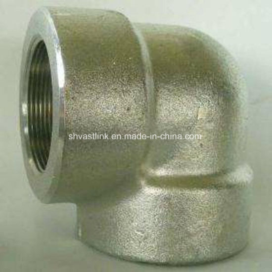 316 90 Degree Stainless Steel Threaded Pipe Elbow for Pipe Joint pictures & photos