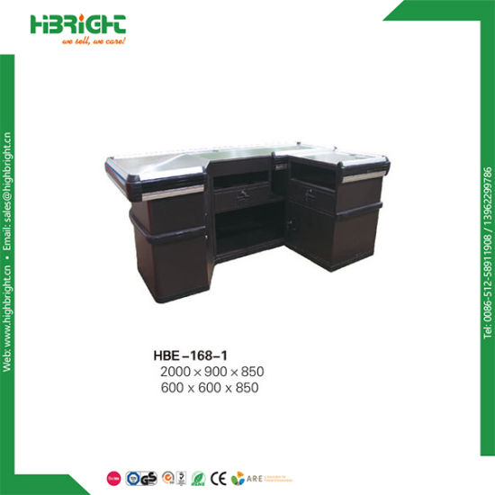 Length Customized Hypermarket Checkout Counter pictures & photos