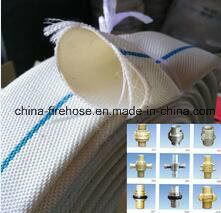 High Pressure Canvas Braided PVC Lining Fire Hose with Coupling and Nozzles pictures & photos