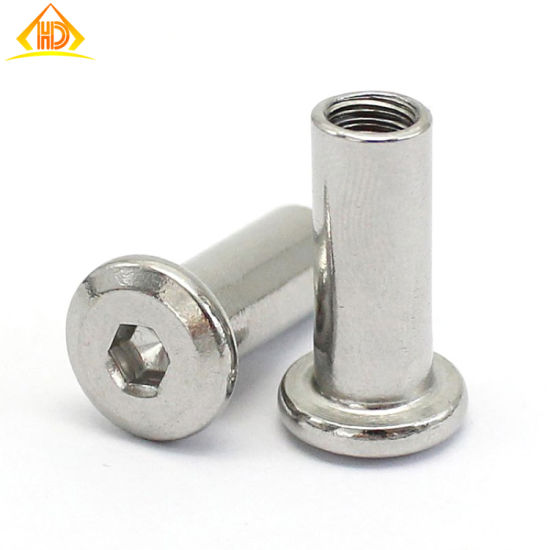Hot Sale High Quality Stainless Steel M6X8mm Book Binding Screw pictures & photos
