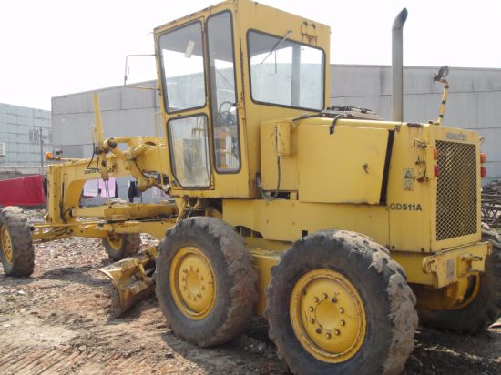 Used Komatsu Gd511 Motor Grader, Also Available Komatsu Gd505, Caterpillar 14G Grader pictures & photos