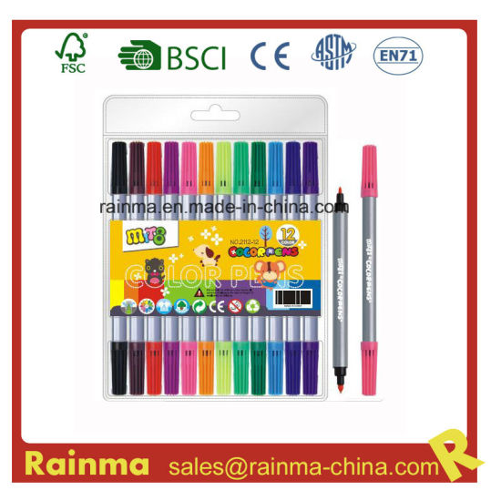 Double Tip Water Color Pen for School Stationery Supply pictures & photos