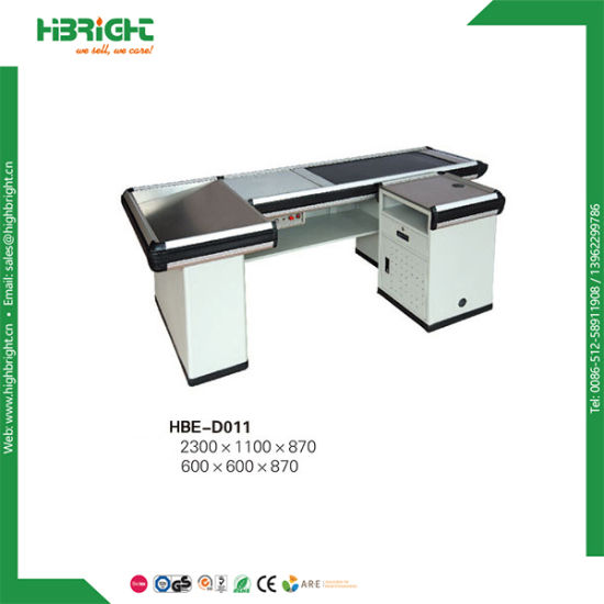 Supermarket Cashier Counter with Conveyor Belt pictures & photos