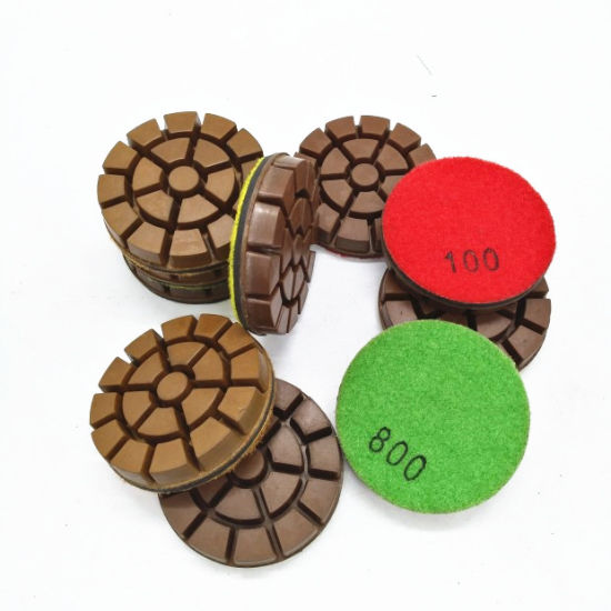 Dry or Wet Copper Resin Bond Diamond Polishing Pads/Pucks pictures & photos