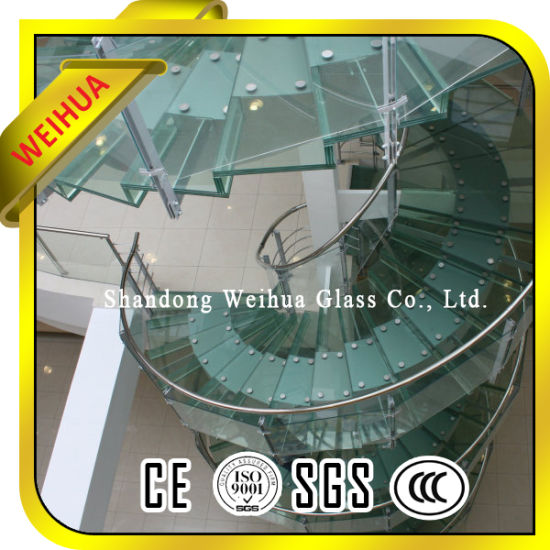 Factory 10mm+1.52+10mm Laminated Tempered Glass for Staircase pictures & photos