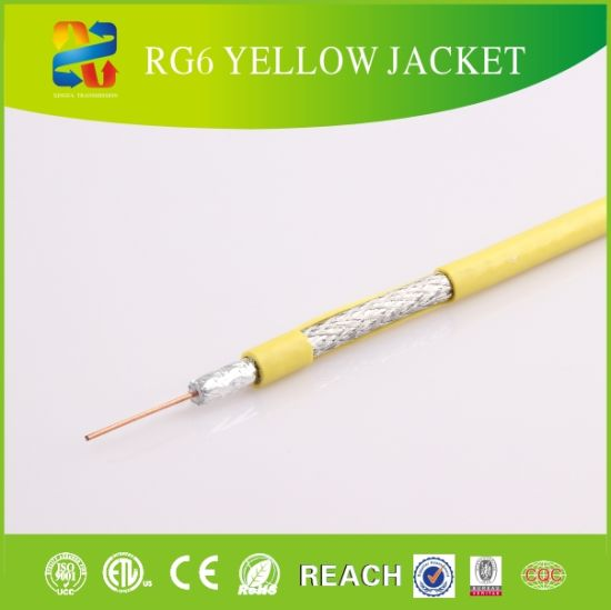 RG6 Quad Cable/RG6 Coaxial Cable with Free Sample pictures & photos