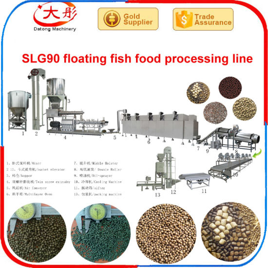 Floating Aquatic Shrimp Fish Food Pelleting Processing Extruder Line pictures & photos