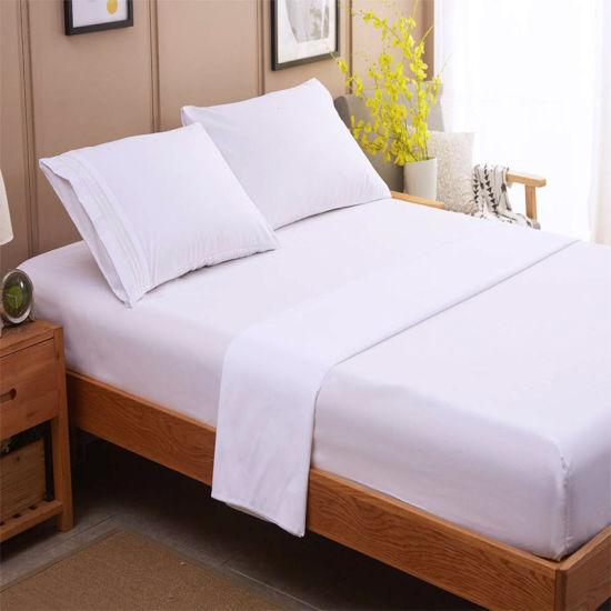 Factory Wholesale Bed Linen Duvet Cover Hotel Bedding 100% Cotton Bed Sheet pictures & photos