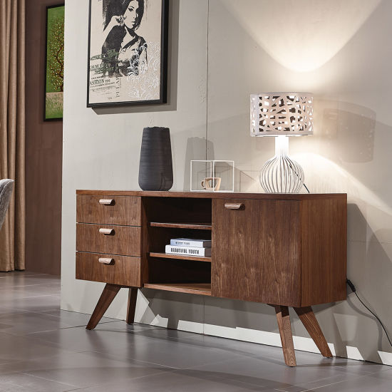 Nordic MDF with Veneer Home Furniture Living Room Wooden Console Table Made in China pictures & photos