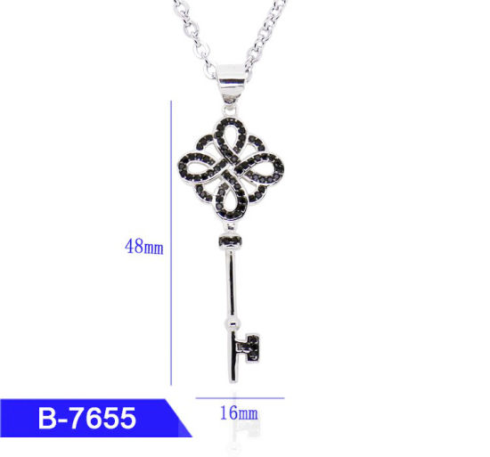 Women′s Fashion Jewelry 925 Sterling Silver Cubic Zirconia Key Pendant for Sale pictures & photos
