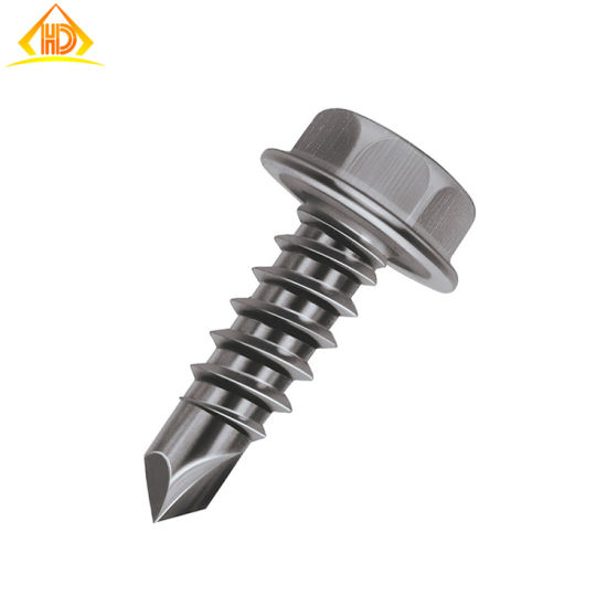 St4.2*16 Stainless Steel 304 Hexagon Wafer Head Self Drilling Screw pictures & photos