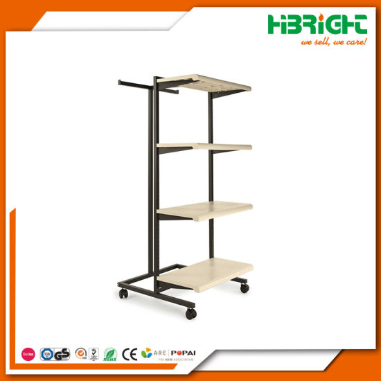Clothing Store Display Shelf Wooden and Steel Shelving pictures & photos