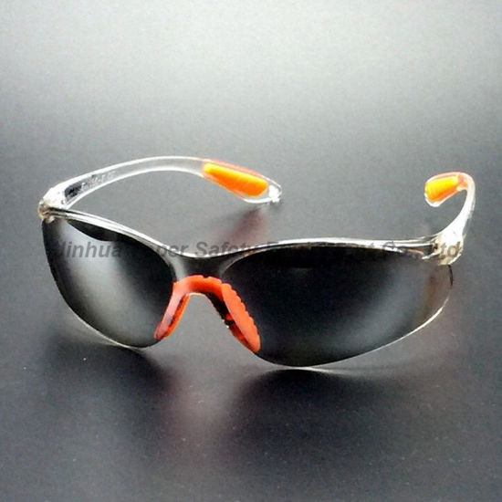 Indoor/Outdoor Mirror Lens Sporty Type Safety Glasses with Pad (SG102) pictures & photos