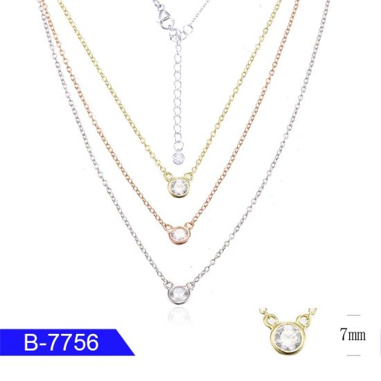 New Design Unique Fashion Jewelry 925 Sterling Silver Cubic Zirconia Necklace for Women pictures & photos