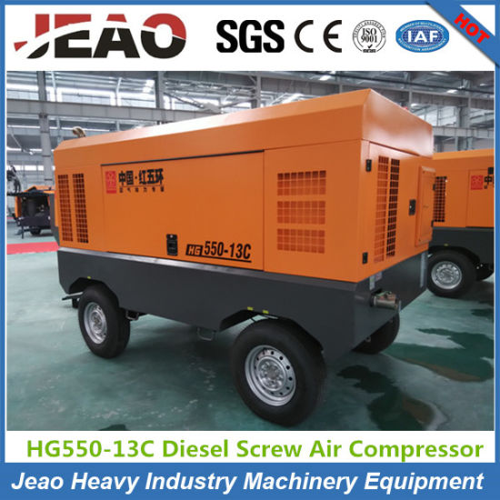 15m3/Min 13bar Diesel Portable Screw Air Compressor for Drilling Rig pictures & photos