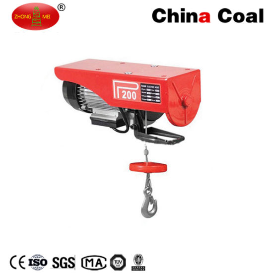 China Coal High Quality 220V Small Electric Chain Hoist pictures & photos