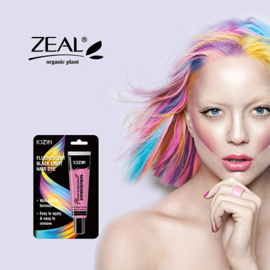 Tazol Temporary Fluorescence Glitter Hair Dye Color pictures & photos