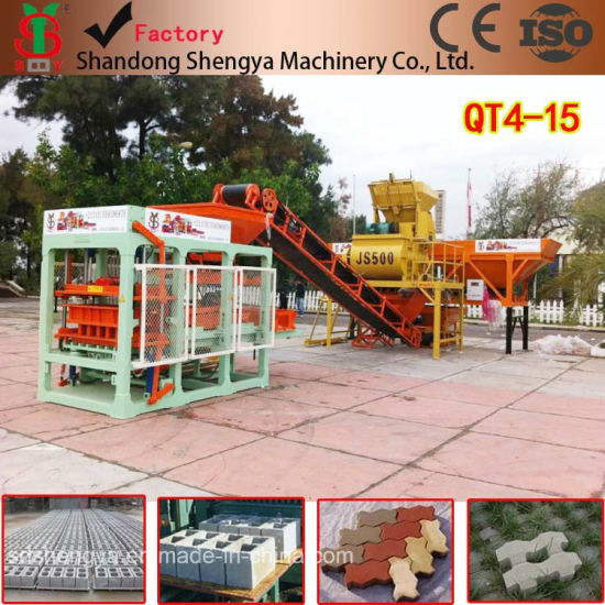 Fully Automatic Concrete Block Making Machinery with PLC (QT4-15) pictures & photos