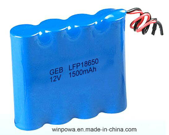 12V Rechargeable LiFePO4 18650 Lithium Battery Pack pictures & photos