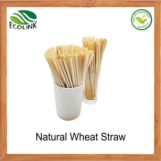 Biodegradable Natural Compostable Wheat Straws for Drinking pictures & photos