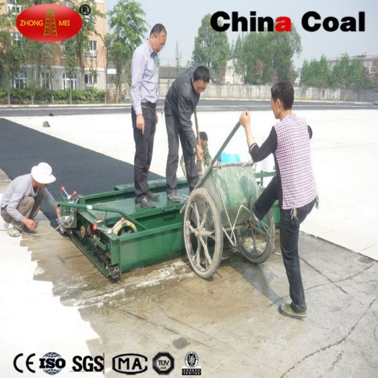 5 rubber paver machine for running way