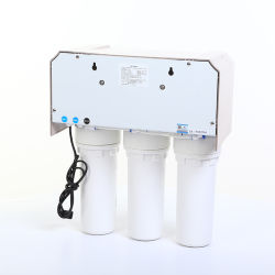 Household R. O. System Water Filter with Pressure Gauge Supply Directly Drinking Pure Water. Dust Proof Case Is Optional