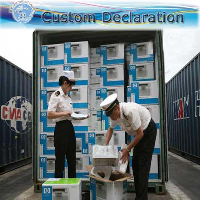 Shipping operation process - F (Custom clearance)
