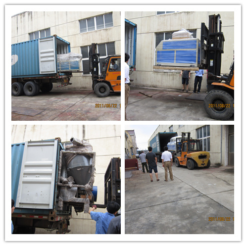Crusher extruder haul off and cutter for a Russia customer