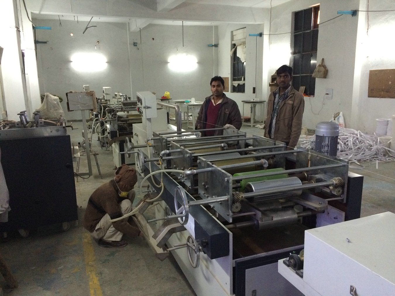 PVC edge banding Printing line in India customer