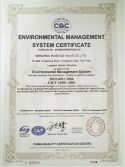 ISO14001--Environmental Management System Certificate