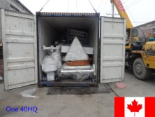 One 40HQ container machines exported to Canada in October 2015